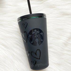 NEW Matte Black Velvet Starbucks Tumbler Grande